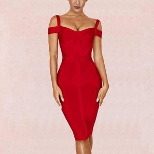 NWOT Bodycon Bandage Dress in Red - XL